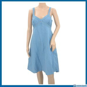 Allison Brittney Blue Eyelet Fit Flare Sundress S
